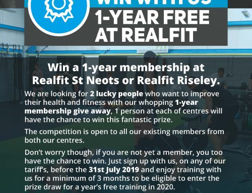 Win A Years FREE membership at Realfit St Neots and Realfit Riseley