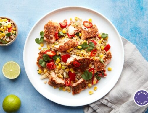 Realfit Recipe Of The Week – Mexican rubbed salmon, coconut & lime rice (Mindful Chef)