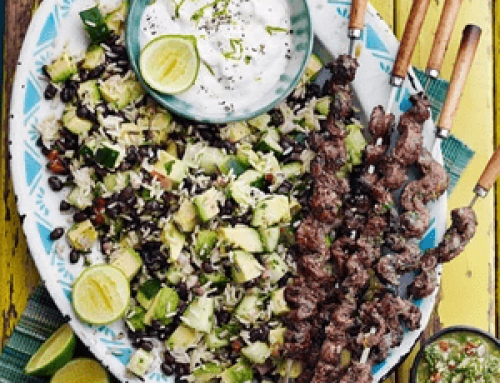 Realfit Recipe of the Week – Beef Skewers With Chimichurri Rice Salad (BBC Good Food)